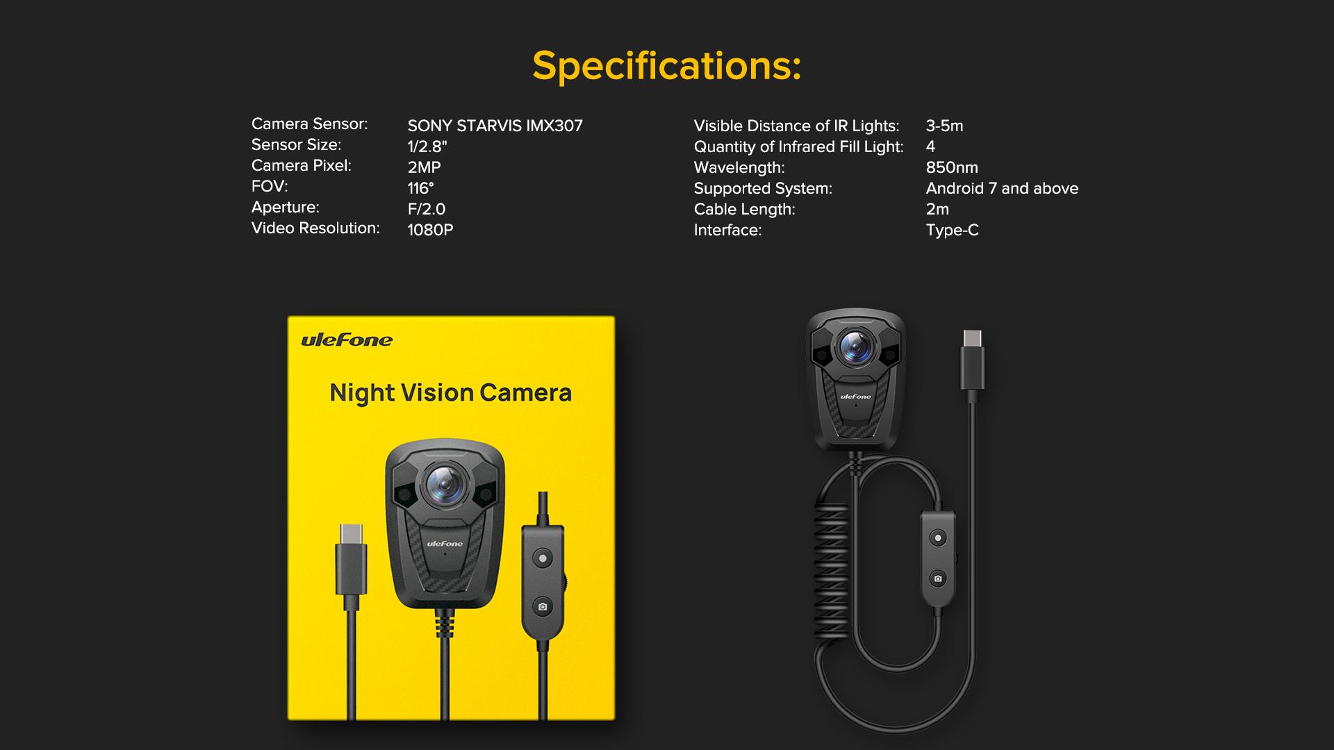 Armor 11 night vision camera